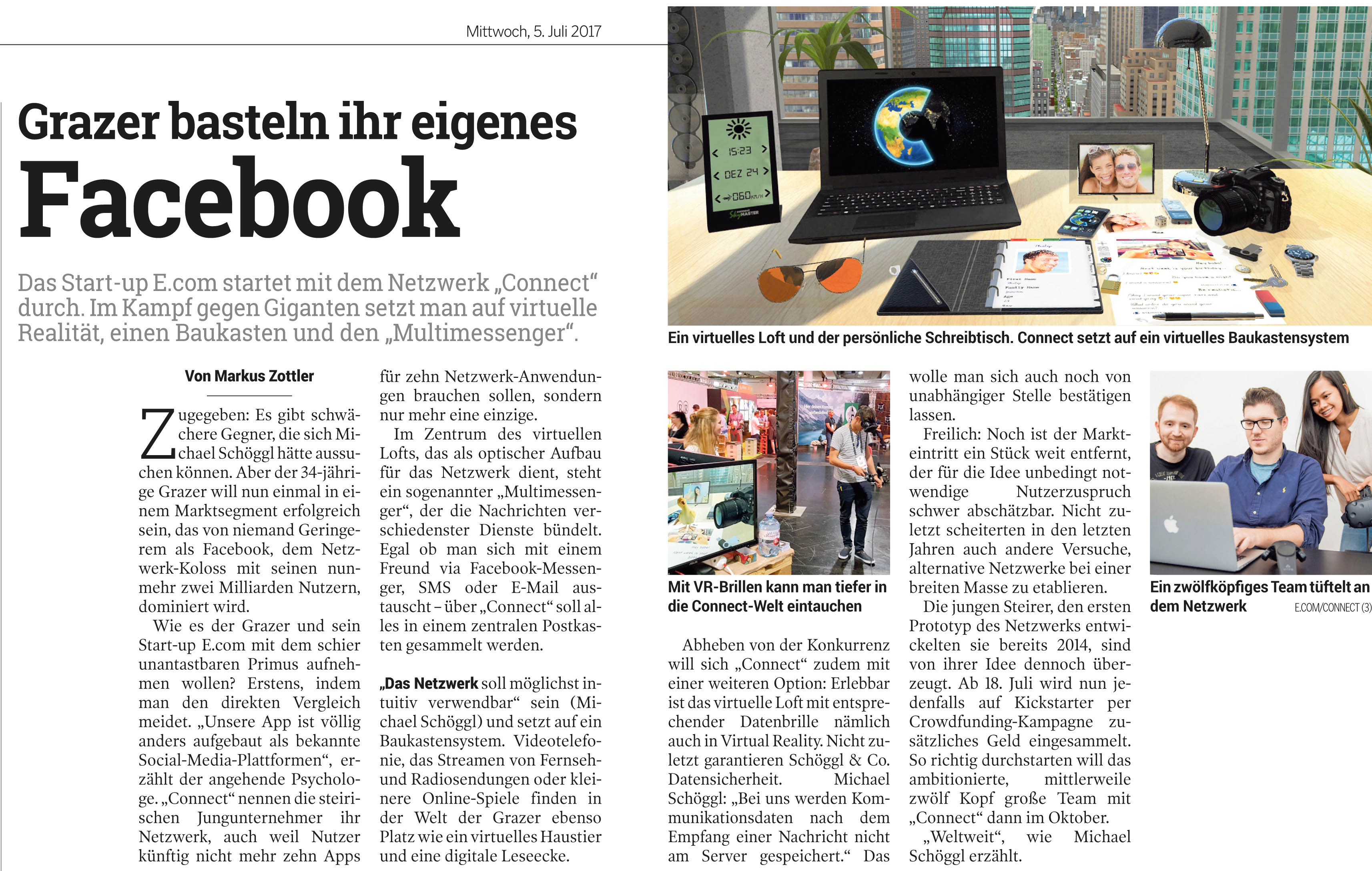 connect - VR Social Network & Multi-Messenger - e com